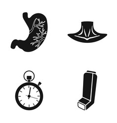 Stomach neck and other web icon in black style vector