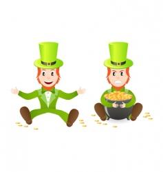 two leprechauns vector image