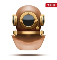 Underwater diving helmet vector