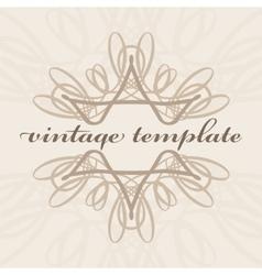 vintage curls vector image vector image