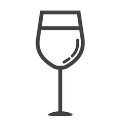 wine glass line icon food and drink alcohol sign vector image vector image