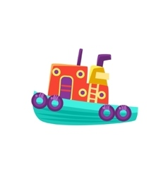 Small steamer toy boat vector