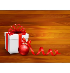 Holiday background with gift box vector
