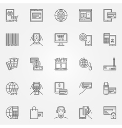 Online payment icons vector