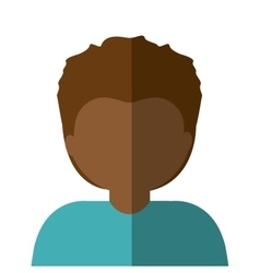 Half body man brunette in gradient vector
