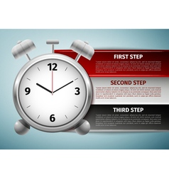 Time management infographics icon isolated on blue vector