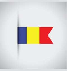 Romanian flag vector