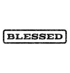 Blessed watermark stamp vector