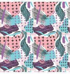 Colorful seamless pattern with brush vector