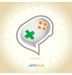 Joystick chat icon vector