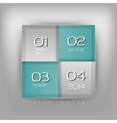 Business four squares turquoise with text vector