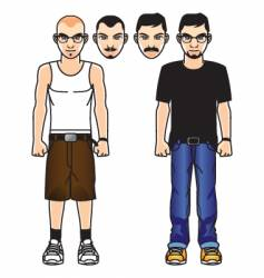 Comic male figure vector