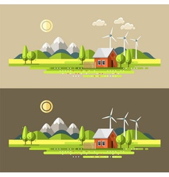 Nature summer landscape vector