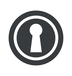 Round black keyhole sign vector