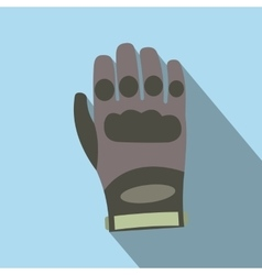 Paintball glove flat icon vector