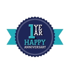 Happy anniversary design vector