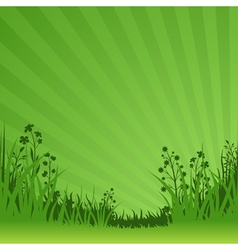 Green nature background vector