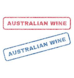 Australian wine textile stamps vector