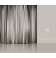 background with theatre curtain vector image vector image