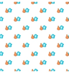Bag and gear pattern cartoon style vector image