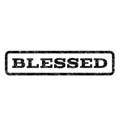 Blessed watermark stamp vector