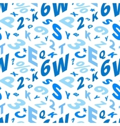 Blue letters in isometric projection on white vector image vector image