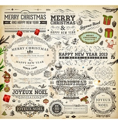 Christmas Decoration Collection vector image vector image