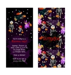 Cute invitation for kids halloween party vector