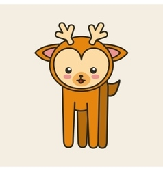 Cute reindeer tender isolated icon vector