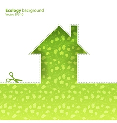 ecological housing concept eps10 vector image vector image