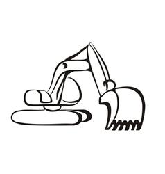 Excavator symbol vector