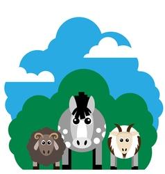 farm animals Horse sheep goat vector image vector image