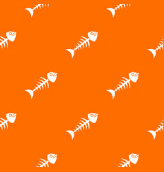 fish bone pattern seamless vector image