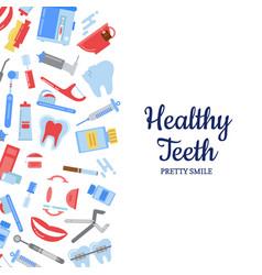 Flat style teeth hygiene background vector