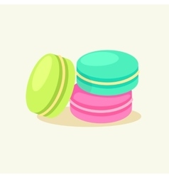 French dessert macaroon vector