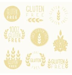 Gluten free badges vector image