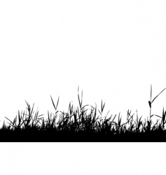 Grass silhouette black vector