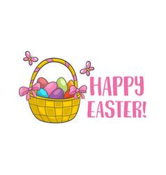happy easter slogan vector image vector image