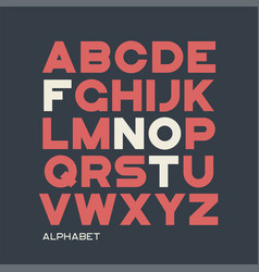 heavy sans serif typeface design alphabet vector image
