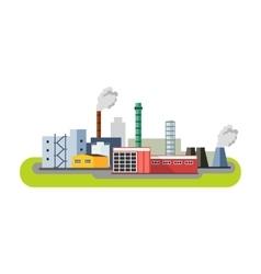 Industrial factory buildings icon Factory vector image vector image