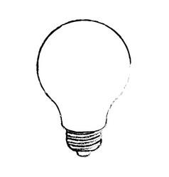 light bulb monochrome blurred silhouette vector image vector image