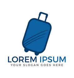 luggage logo design vector image vector image