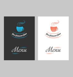 menu cover page vector image