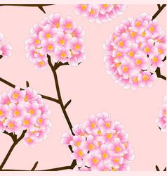 pink trumpet flower on beige ivory background vector image vector image
