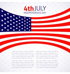 Stylish american independence day design vector