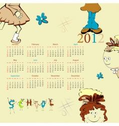 Template for calendar 2012 vector