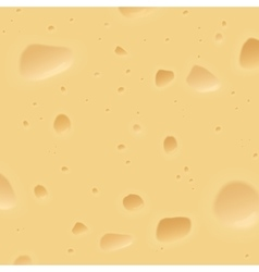 Texture of a swiss cheese Food cheese background vector image vector image