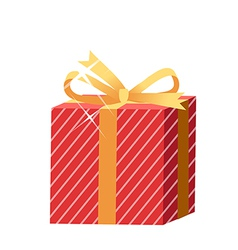 The gift box vector image vector image