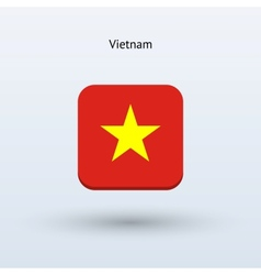 Vietnam flag icon vector