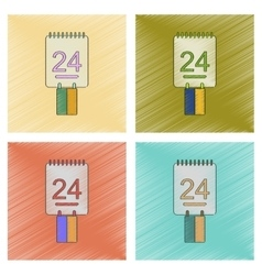assembly flat shading style icon calendar Ukraines vector image